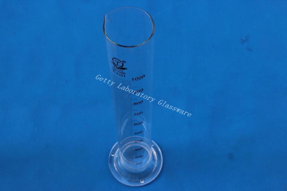 1000 mL (1L) Measuring Cylinder, borosilicate glass 3.3 material lab glassware 1000ml glass measuring cylinder