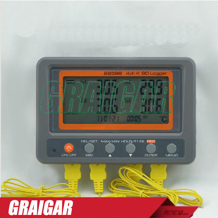 Multi-channel-Digital-Thermometer-AZ88598-4-Channel-K-Type-Thermocouple-Temperature-logger-SD-Card-Data-Logger