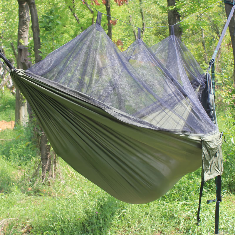 Image 5 - Ultra Large 300CM Parachute Hammock Anti mosquito bites Hammock Parachute Fabric Mosquito Net Hammock for Indoor Outdoor Camping-in Hammocks from Furniture