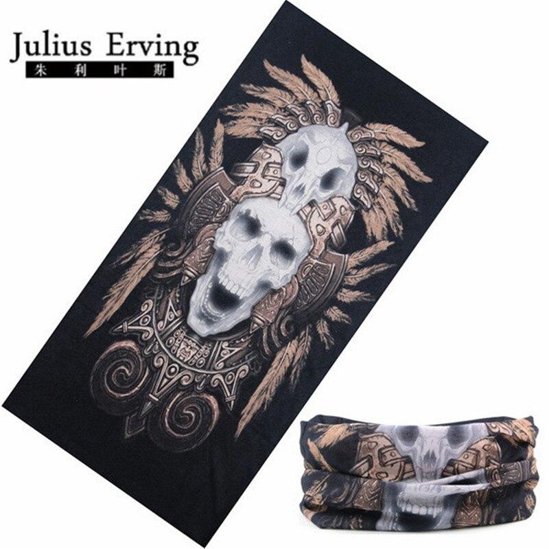 Julius Erving Magic Seamless Bandana Multifunctional Polyester Bandana Joggers Biker Bandana Skull Headband Skeleton
