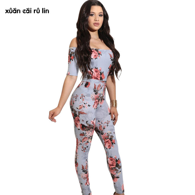 2018 autumn sexy body femme off shoulder LONG Party bodycon pants jumpsuit  blue fashion nova birthday outfits for women overalls acb7d959f
