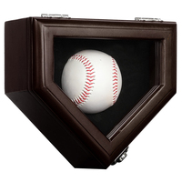 Display Case for Baseball Storage Box Holder Solid wood Cabinet 16*17.5*9.5cm Showcase with UV Protection Acrylic Door Lockable