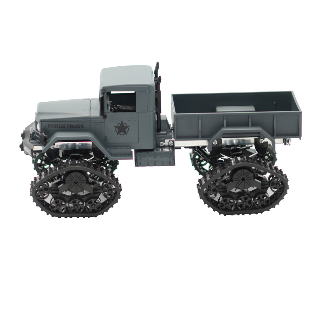 Remote Control Military Truck 4 Wheel Drive Off-Road RC Car Army 1:16 4WD Tracked Wheels Crawler Off-Road Car RTR Toy NEW 1 16 2 4g rc military truck toy remote control cars remote control truck rock crawler off road dirt toys big wheel car kid gift