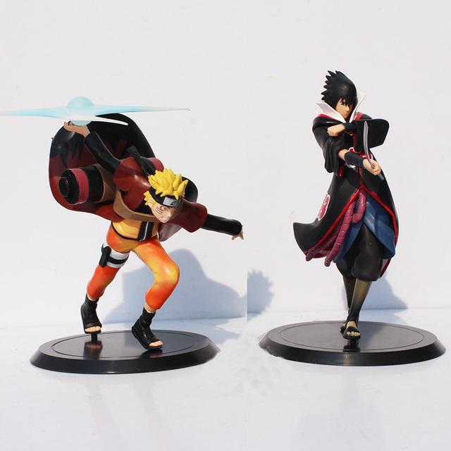 2Pcs 18cm Naruto Shippuden Uchiha Sasuke Uzumaki Naruto