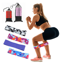 Printed Pattern Hip Resistance Bands Booty Leg Exercise Elastic For Fitness Gym Yoga Stretching Training Workout Equipment