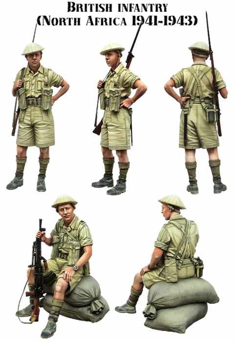 1/35 scale WW2 British soldiers in north Africa 2 people