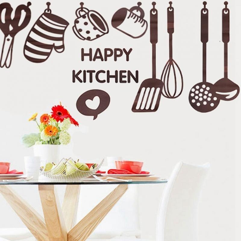 Creative Kitchen Wall Decor: Creative Kitchen Cooking Utensil Spatula Vinyl Removable Wall Decal Decor Paster-in Wall