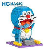 HC MAGIC 1008 Japanische Anime Doraemon Diamond Building Blocks Bausteine Birthday Gift Figures DIY Toys Assembly Toys