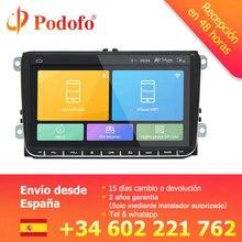 Podofo 9 inch Android 6,0 автомобилей Радио стерео, сенсорный экран автомобильный мультимедийный плеер 2 din стерео радио GPS Wi-Fi для VW Passat Golf MK5