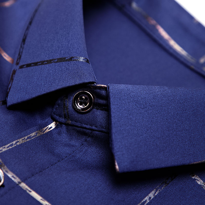 2020 Brand Casual Spring Luxury Plaid Long Sleeve Slim Fit Men Shirt Streetwear Social Dress Shirts Mens Fashions Jersey 2309 5