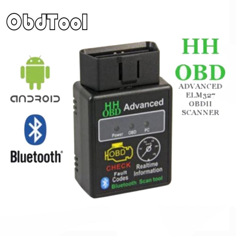 Mini ELM327 V2.1 Bluetooth HH OBD Advanced OBDII OBD2 ELM 327 Car Diagnostic Scanner code reader scan tool for Android LR-5 latest super mini elm327 bluetooth v2 1 elm 327 car code reader obd2 car diagnostic tool for obdii protocol for android windows