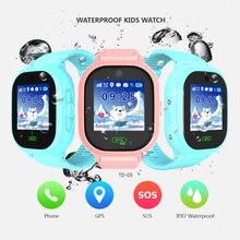 b812ff3509e4 Impermeable inteligente reloj de bebé DS05 niños GPS reloj inteligente niño  gps tracker niños reloj de