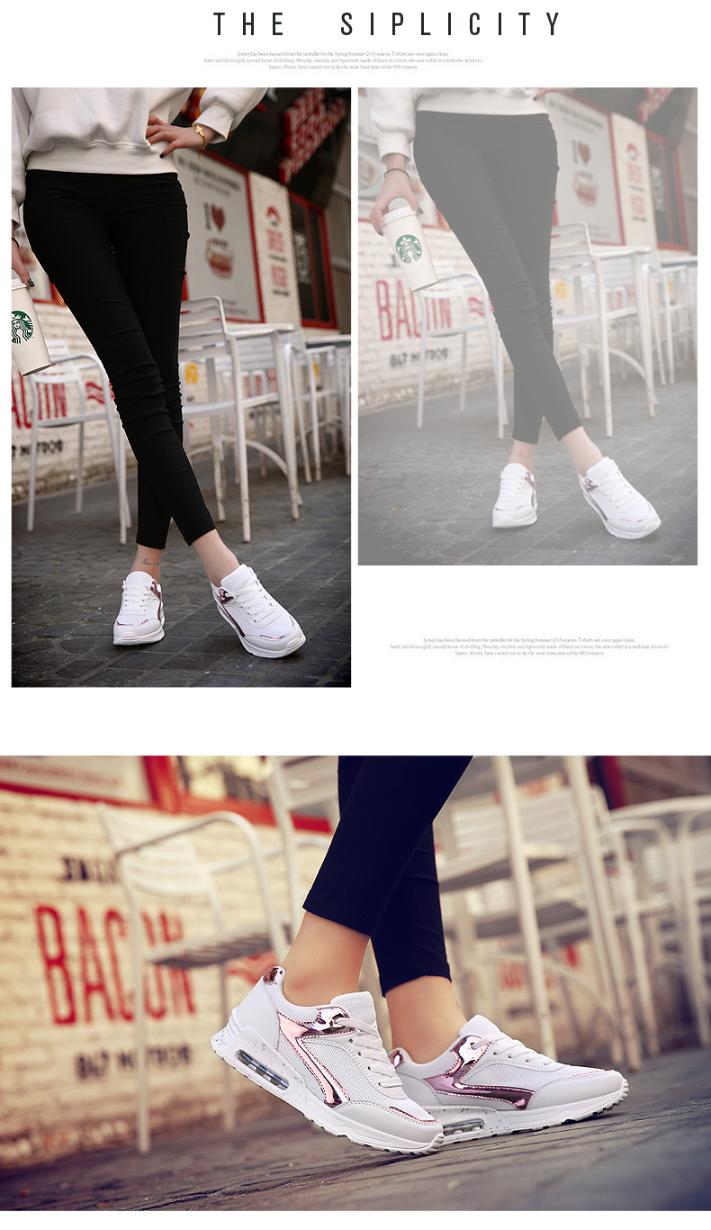 Air Mesh Women Casual Shoes Fashion Lace Up Shallow Shoes Woman Flat Heel Sport Trainers Size 35-40 Quality Walking Shoes ZD30 (9)