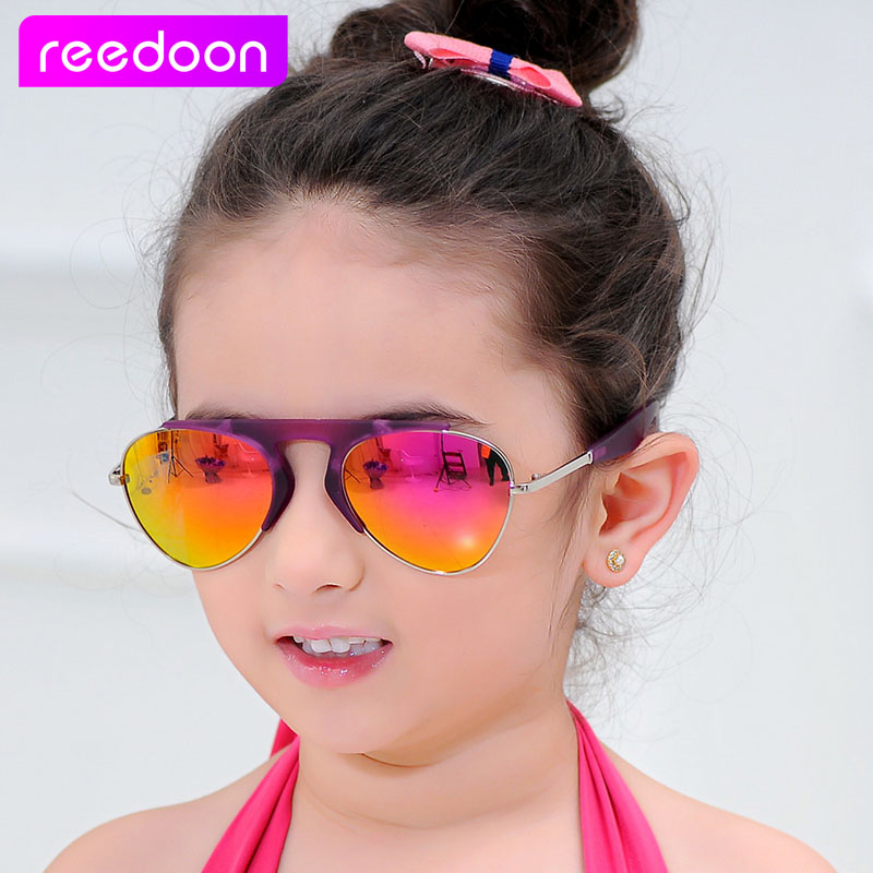 2016 New Fashion Children Sunglasses Boys Girls Kids Baby Child Sun Glasses Goggles UV400 mirror glasses Wholesale Price 1005