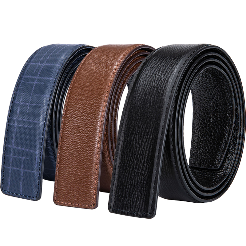 100% Cowhide Genuine Leather Belt Without Buckle Blue Brown Black Replacement Belt For Pin H Buckle Designer Mens H Belts 3.5cm