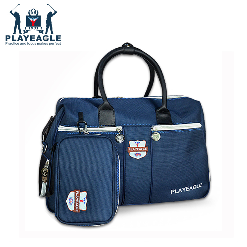 Playeagle Travel Appreal Golf Boston Bag with Separate Shoes Area Waterproof Nylon Golf Clothing Bag with Mini Golf Pouch golf bag handbag golf mini bag clothing bag men women golf pouch free shipping