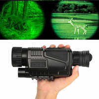 Night Vision Monocular Hunting Scope Rechargeable 5X40 HD BAK4 Adjustable Focus 200m infrared camera Digital Video Record Device