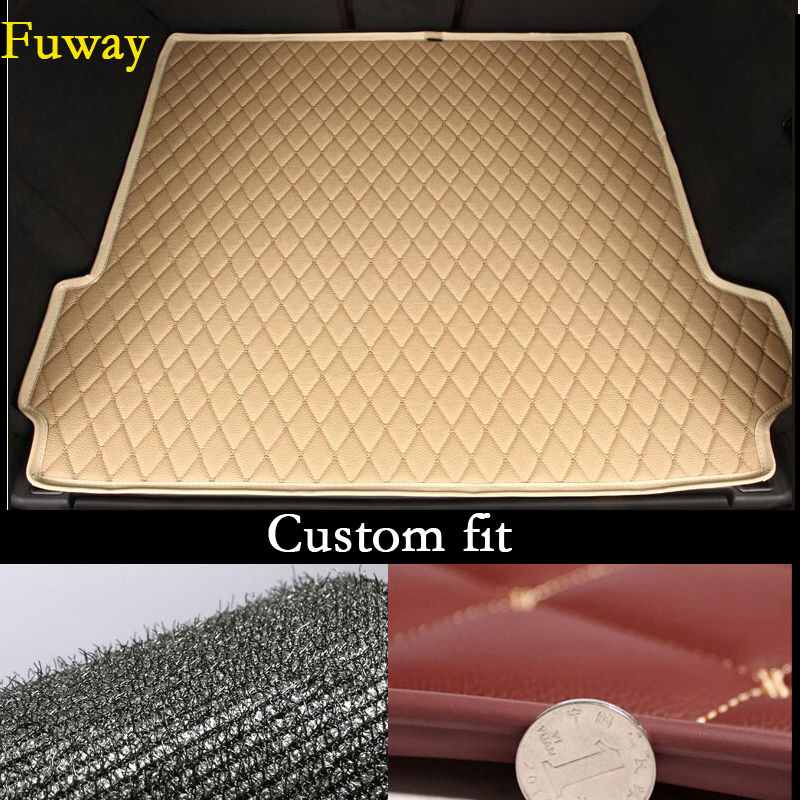 где купить Auto Cargo Liner Trunk Mats For free shipping pu leather car trunk mat cargo mat for ford mustang 2016 2015 6th generation дешево