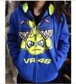 Envío gratis 2017 equipo de carreras de fábrica m1 moto gp valentino rossi vr46 adulto sudadera con capucha camiseta de los deportes chaquetas azul