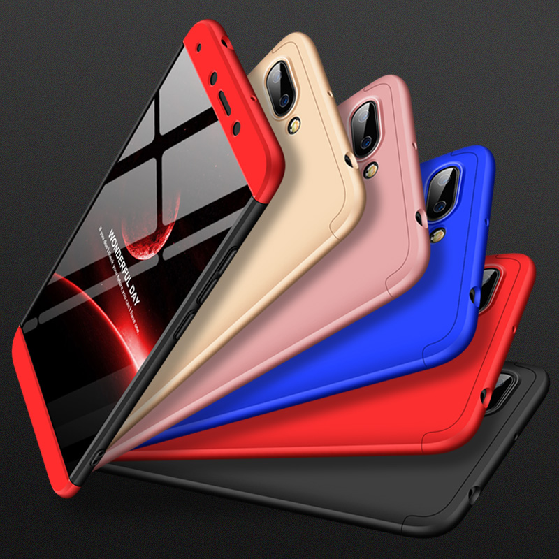 360 Degree Full Protection Hard Case For Xiaomi Redmi 6 Redmi6 Cover shockproof case For Xiaomi Redmi 6 Full case glass film in Fitted Cases from Cellphones Telecommunications