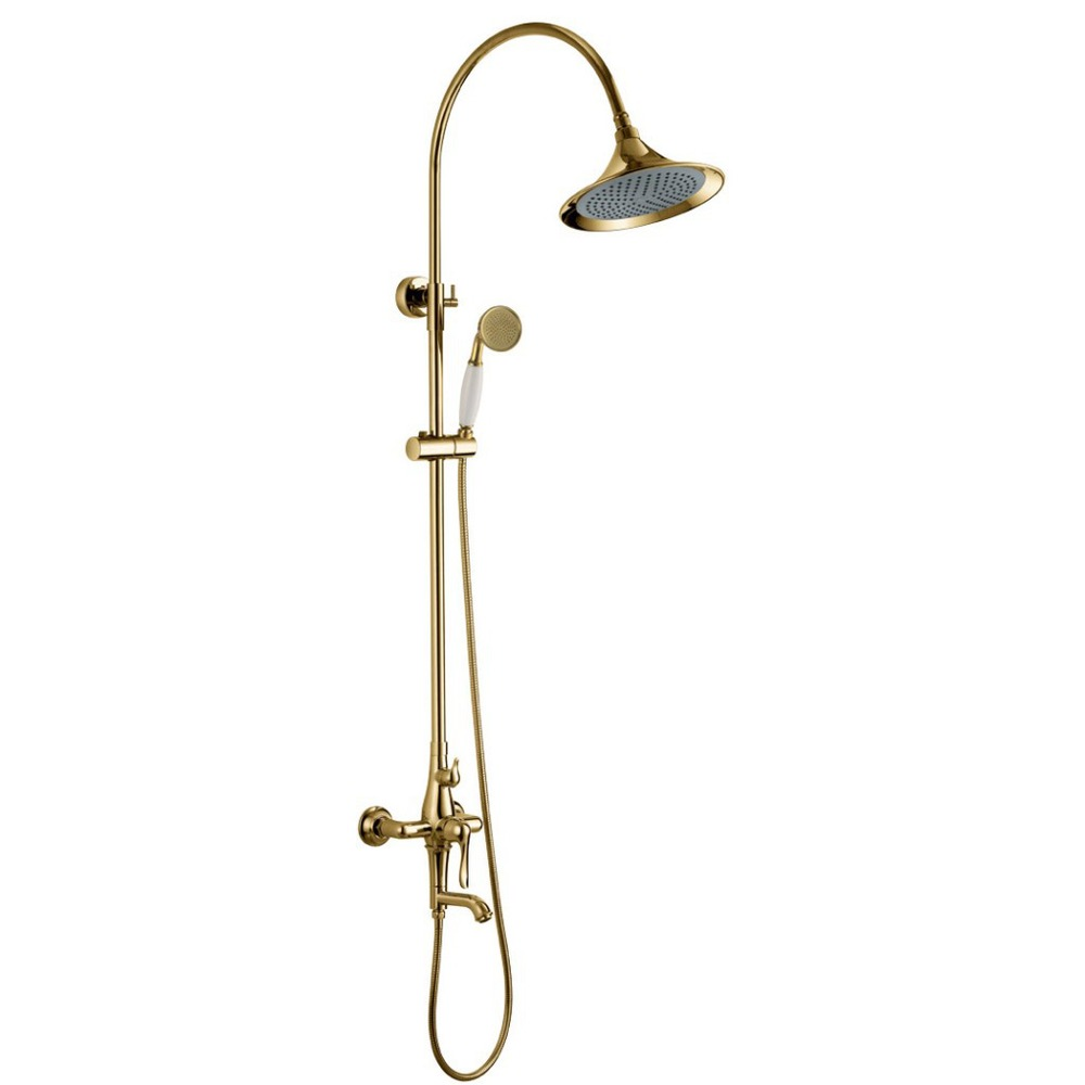 Real Snyder whole retro antique copper full C rainfall shower suit copper top spray Tyrant Gold Series