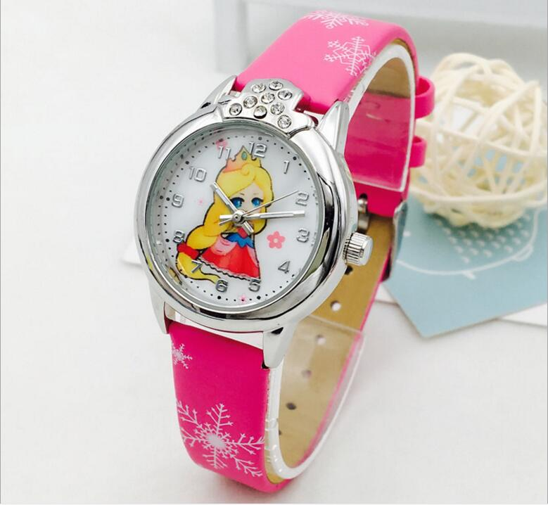 Children's Watch Girls Waterproof Student Princess Watch Cute Simple Fashion Water Drill Watch Quartz Dropshipping