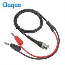 Cleqee P1009 BNC Q9 Man Plug Dual 4mm Stapelbare Banana Plug 500 V/5A met Socket Meetsnoeren Probe Kabel 120 CM Elektrische Tool