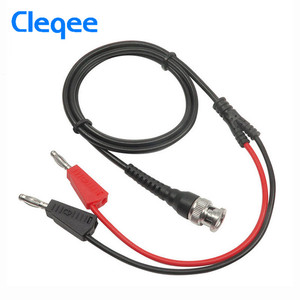 "Image 1 - Cleqee P1009 Q9 BNC תקע זכר לdual 4 מ""מ בננת Stackable תקע 500 V/5A עם שקע מבחן מוביל הבדיקה כבלי 120 ס""מ כלי חשמלי"