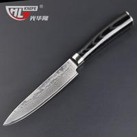 NEW 5 Chef Knife Japanese VG10 Damascus Steel Chef Kitchen Knife Santoku Knife Micarta Handle FREE