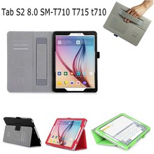High quality Hand Strap ID card Slots PU Leather stand holder Smart Case Cover For Samsung Galaxy Tab S2 8.0 SM-T710 T715 T710 alis protective pu leather case w card holder slots for samsung galaxy s4 mini white