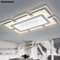 SHIXINMAOSky miasta bardzo cienkie akrylowe nowoczesne lampy sufitowe Led do salonu sypialnia pokój do nauki domu grudnia lampa sufitowa Led