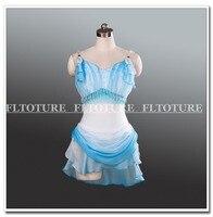 Спандекс купальник с шифоновая юбка балета Амур одежда танцевальные костюмы для балета show индивидуальный заказ сервис в Китае AT1237