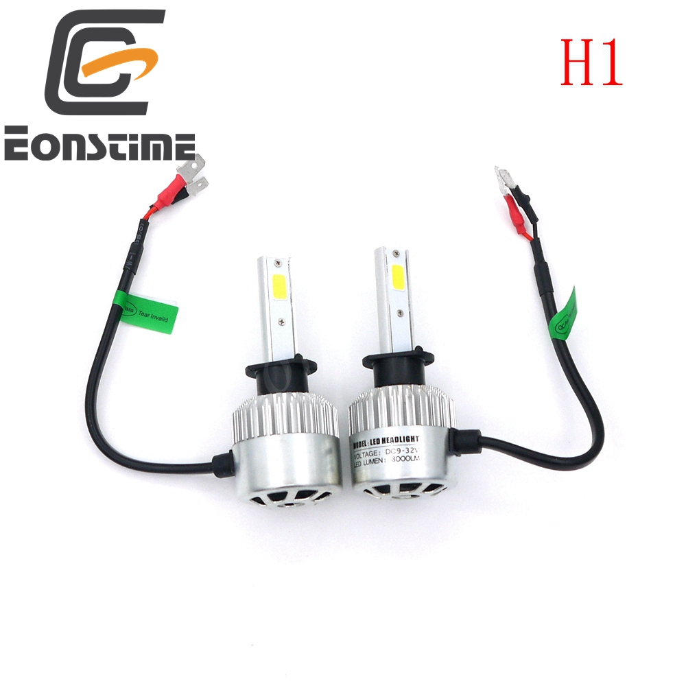 Eonstime 12V/24V H4 H7 <font><b>H11</b></font> H1 H3 9005 9006 COB <font><b>LED</b></font> Headlight <font><b>72W</b></font> 8000LM Car <font><b>LED</b></font> Headlights Bulb Head Lamp Fog Light Pure 6500K