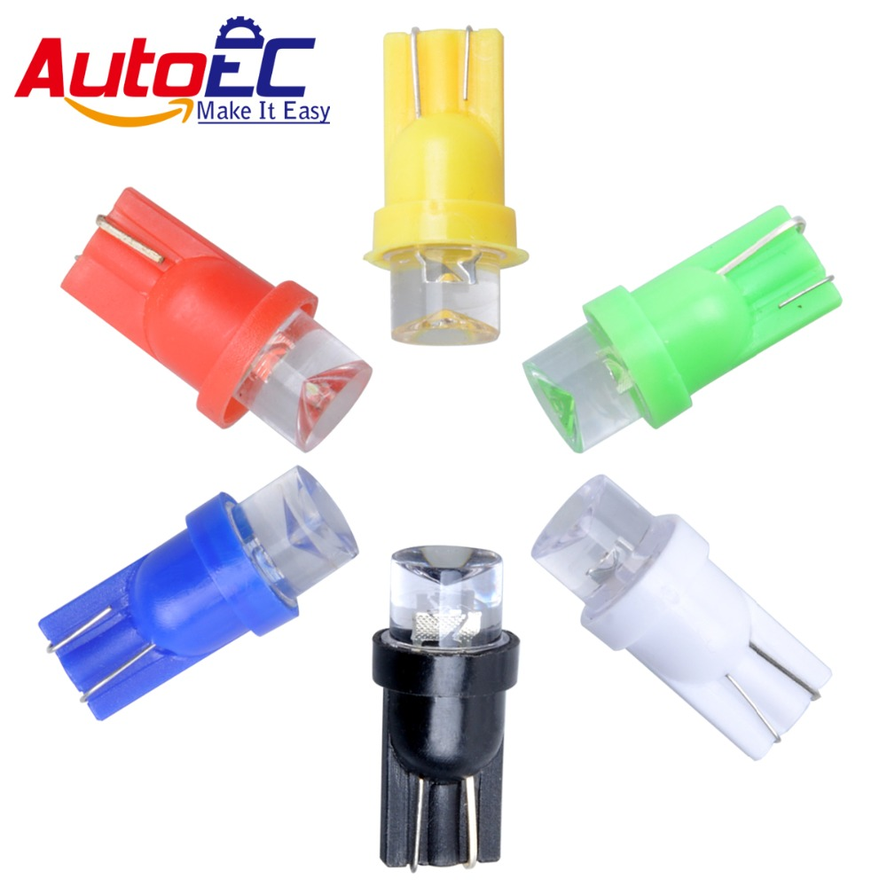 AutoEC <font><b>100X</b></font> <font><b>T10</b></font> 194 168 w5w led 1 LED 12256 12961 147 152 159 161 194NA 259 dashboard warning indicator led light #LB33 image