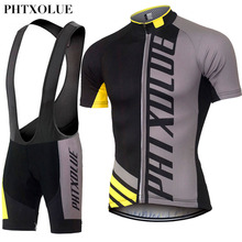 PHTXOLUE Cycling Clothing Quick Dry Mtb Bike font b Jersey b font Set Bicycle Cyle Clothes