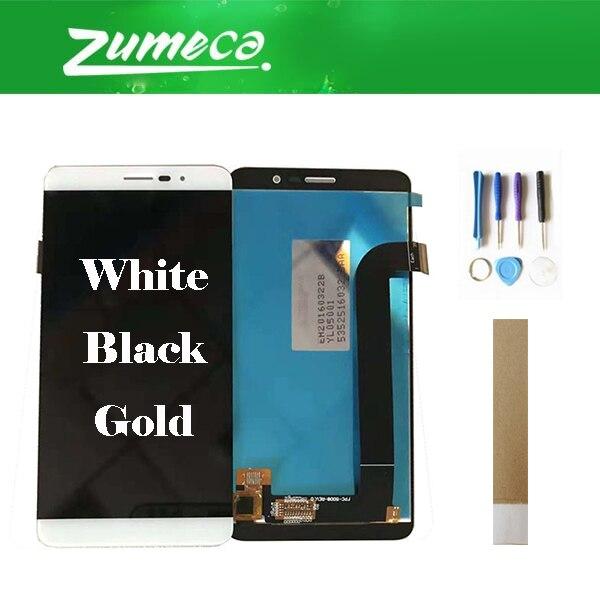 Haute Qualité 5.0 pouce Pour Coolpad Porto S E570 Coolpad E570 LCD Écran + Écran Tactile Digitizer 3 Couleur avec du Ruban Adhésif et Outil