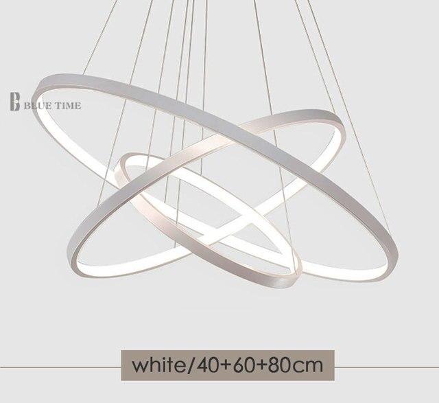 Złoto czarny biały kolor nowoczesne lampy wiszące do salonu