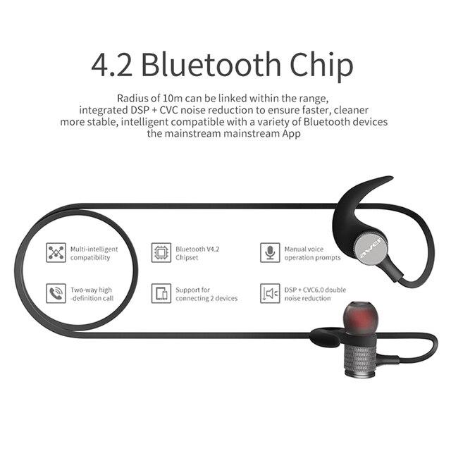 Купить AWEI T12 Bluetooth наушники беспроводные наушники гарнитура для телефона  Auriculares kulakl K беспроводные bluetooth наушники V4.2 шлем - ePower ... dfb72b846f683