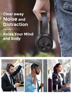 Image 4 - Mpow H12 היברידי פעיל רעש ביטול אוזניות 30 H זמן משחק 40mm נהג אלחוטי Wired 2 ב 1 עבור נסיעות עבודה