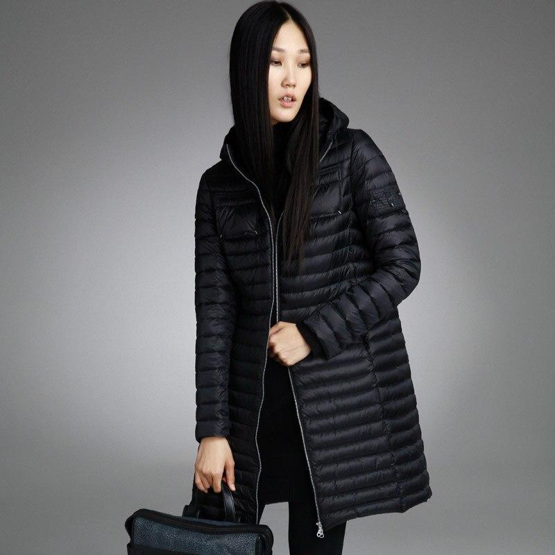 9956d8ea440 Misun2017 весна осень и зима средней длины Легкий и тонкий пуховик женская  мода с капюшоном женщин куртки для девочки