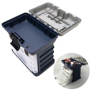 Image 3 - 釣りアクセサリー 5 重層釣具ボックスプラスチック製のハンドル釣りボックス鯉フィッシングツール【送料無料書留