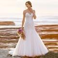 Vestido de Noiva 2017 Lace Tulle Graceful Mermaid Beach Wedding Dress Alibaba China Vestido Branco Robe de Mariage Cheap