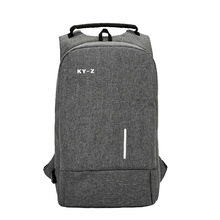 패션 캐주얼 간단한 nlyon 컴퓨터 가방 대용량 다기능 usb 충전 배낭 안티 - 도난 비즈니스 노트북 배낭