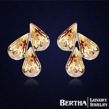 Серьги женские с кристаллами Сваровски модные ювелирные украшения