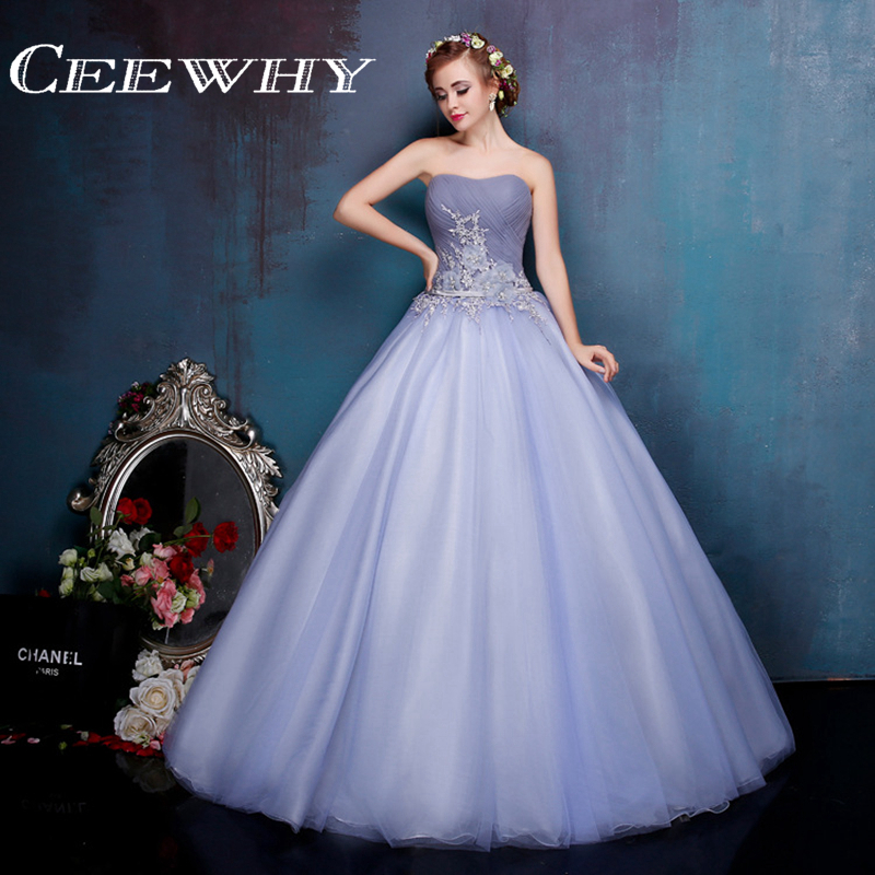 Elegant Embroidery Embellishment Ball Gown Traditional: CEEWHY Strapless Ball Gown Party Elegant Embroidery