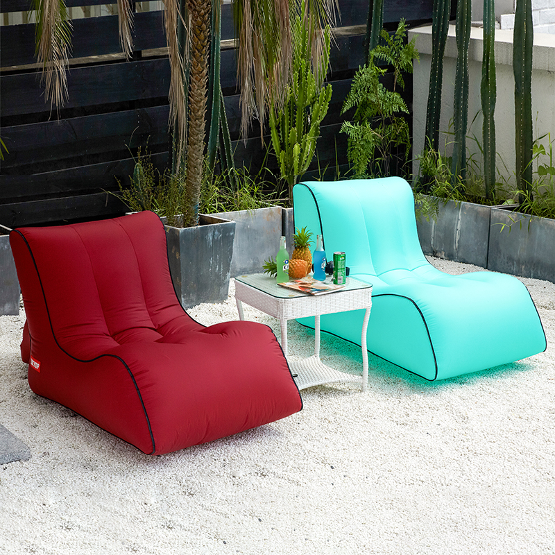 Image 2 - Inflatable bean bag sofa  outdoor beach chairs  beanbag lounger air lazy chair-in Beach Chairs from Furniture