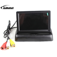 4.3'' LCD Foldable 2 DVD Video Input Car Video Players Car Rear View Camera Monitors Dispay for Parking Sensor System