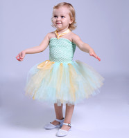 Nieuwste lichtgroen mix perzik baby verjaardag dress pluizige tutu jurken fotografie props voor peuter