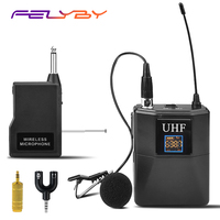 FELYBY Professional UHF Conference Wireless Lavalier Microphone for Computer or Teaching Mic Set with Receiver Transmitter