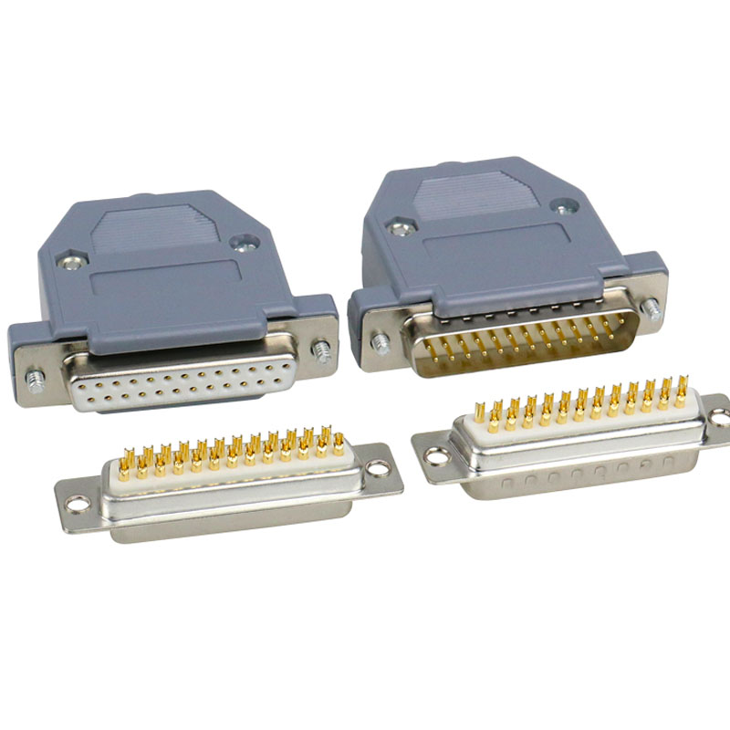 1pcs 25 Pin D-SUB DB25 Male Plug 2 Rows Solder Type Connector Socket DIY